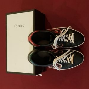 Gucci Ace Snake Leather Sneakers Size 11